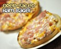 Open Faced Ham Bagel