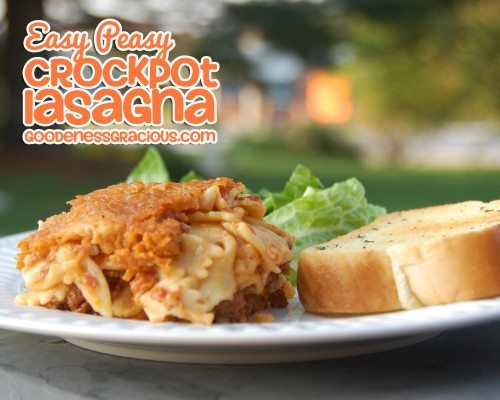 Easy Peasy Crockpot Lasagna