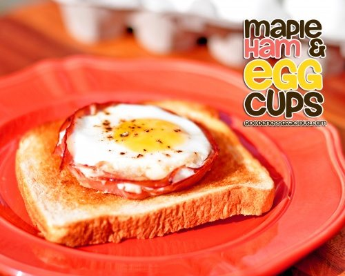 Maple Ham and Egg Cups