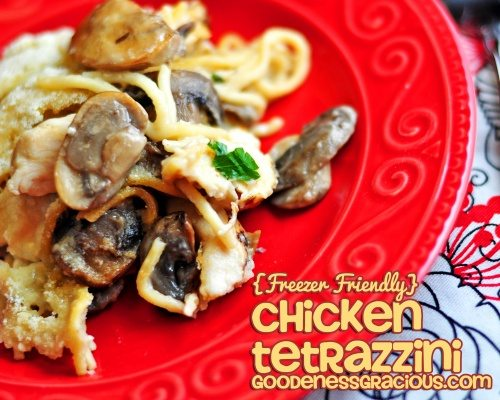 Chicken Tetrazzini {Freezer Friendly}