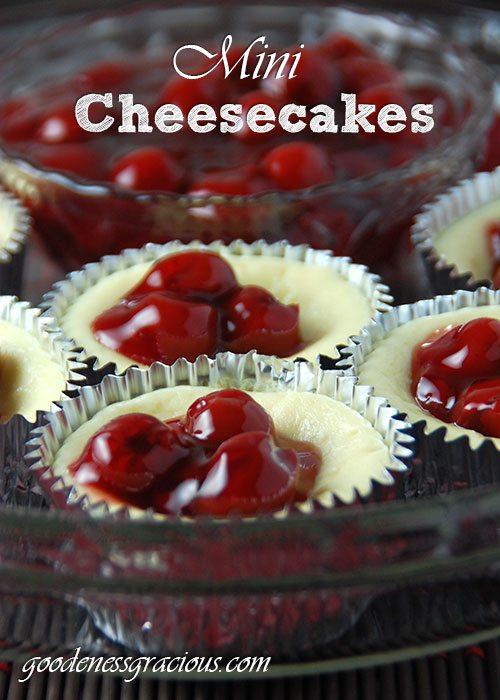 Mini Cheesecakes - GOODEness Gracious
